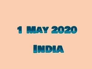 1 May 2020 India