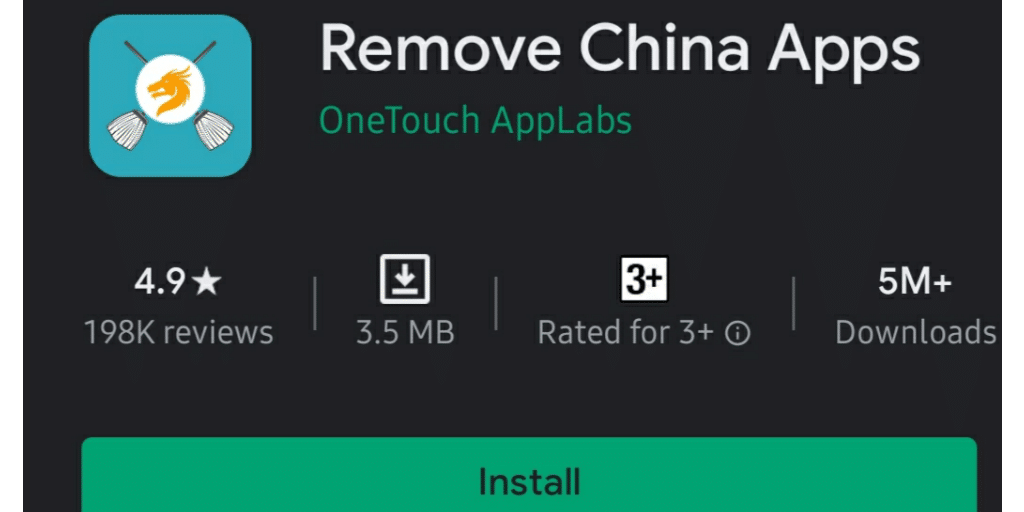 How safe is Remove China Apps? How does it work?