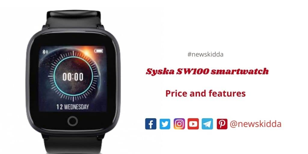 Syska SW100 smartwatch launched in India, find out its price and features